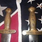 Confederate and Union Artillery Sword Handles