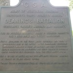 Dearing's Battalion Sign at Gettysburg