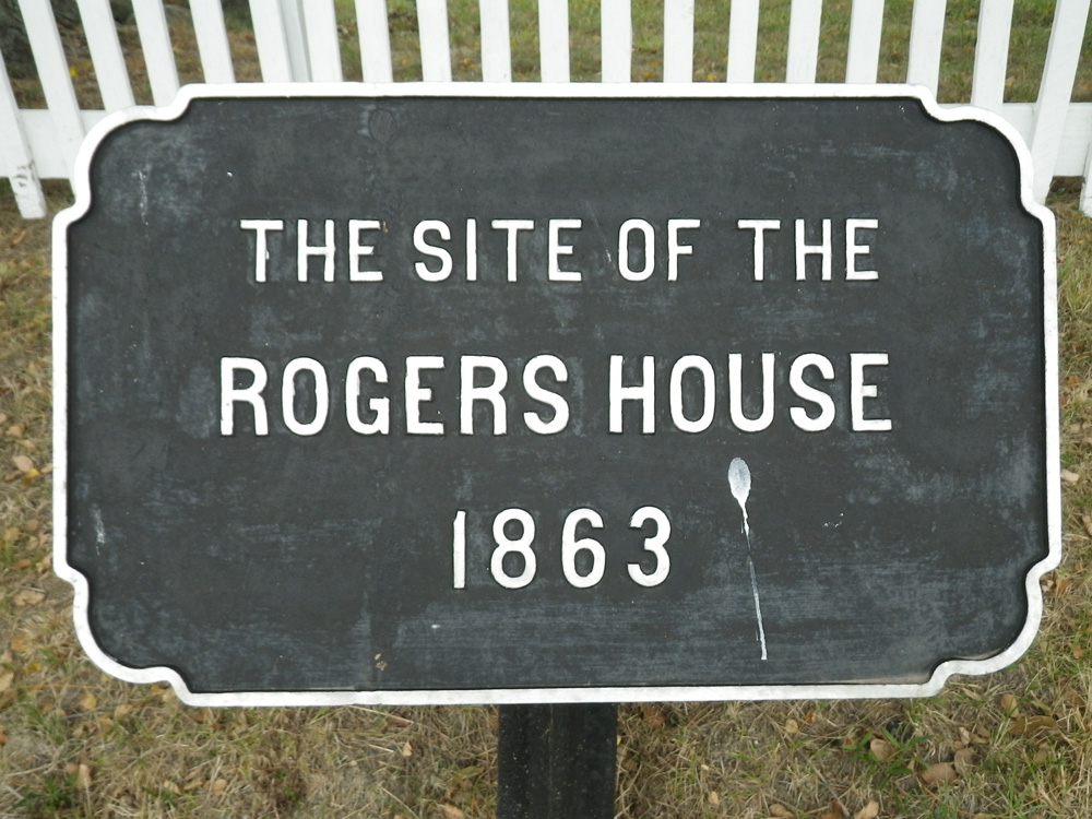 Rogers House Sign, Emmitsburg Road