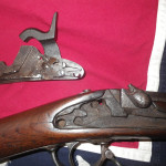 1863 Richmond Short Rifle Expose Lock Plate View