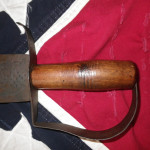Confederate Bowie Knife D Handle with Knot