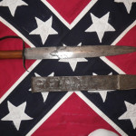 Confederate Bowie Knife & Tin Scabbard