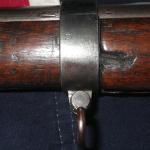 1863 Richmond Long Rifle center barrel band, left side offset U