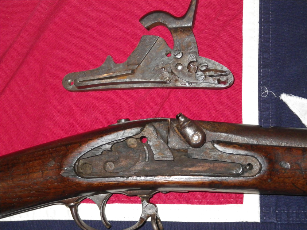 1864 Richmond Carbine Lock Plate & Exposed Cavity