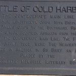 Battle of Cold Harbor, Plaque