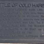 Battle of Cold Harbor, Plaque