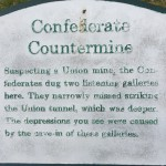 Confederate Countermine Plaque