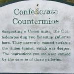 Confederate Countermine Plaque