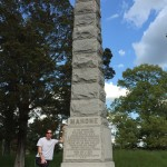 Eugene West at the William Mahone Monument