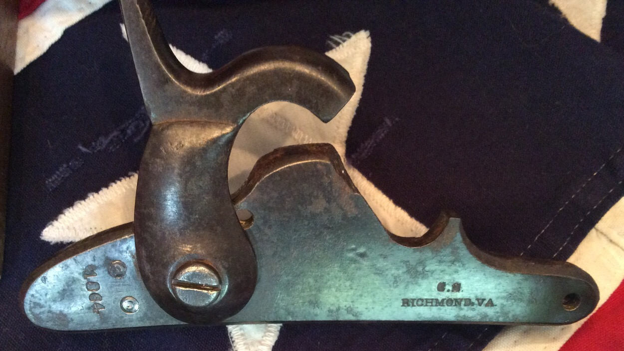 1864 Richmond Low Hump Lock Plate, Type 4