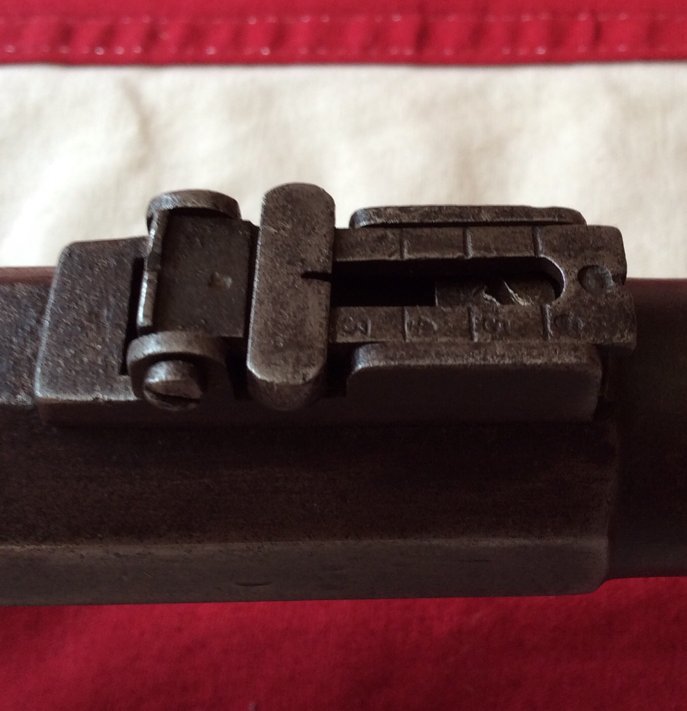 1864 Gywn & Campbell Carbine, Rear Sight