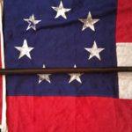 Confederate, Cloverleaf Tipped Flagstaff