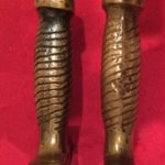 Confederate Artillery Short Sword, Left is Fake, Right is Authentic