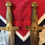C.S. Star Artillery Sword rasa Handle, Left is Authentic, Right is Fake