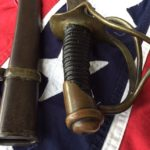 Confederate Enlisted-mans Cavalry Sword, Grip and Scabbard Throat