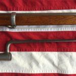 1863 Springfield Rifle Musket Barrel Band & Socket Bayonet