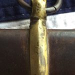 Confederate Scabbard Brass Mount & Ring, Close-up