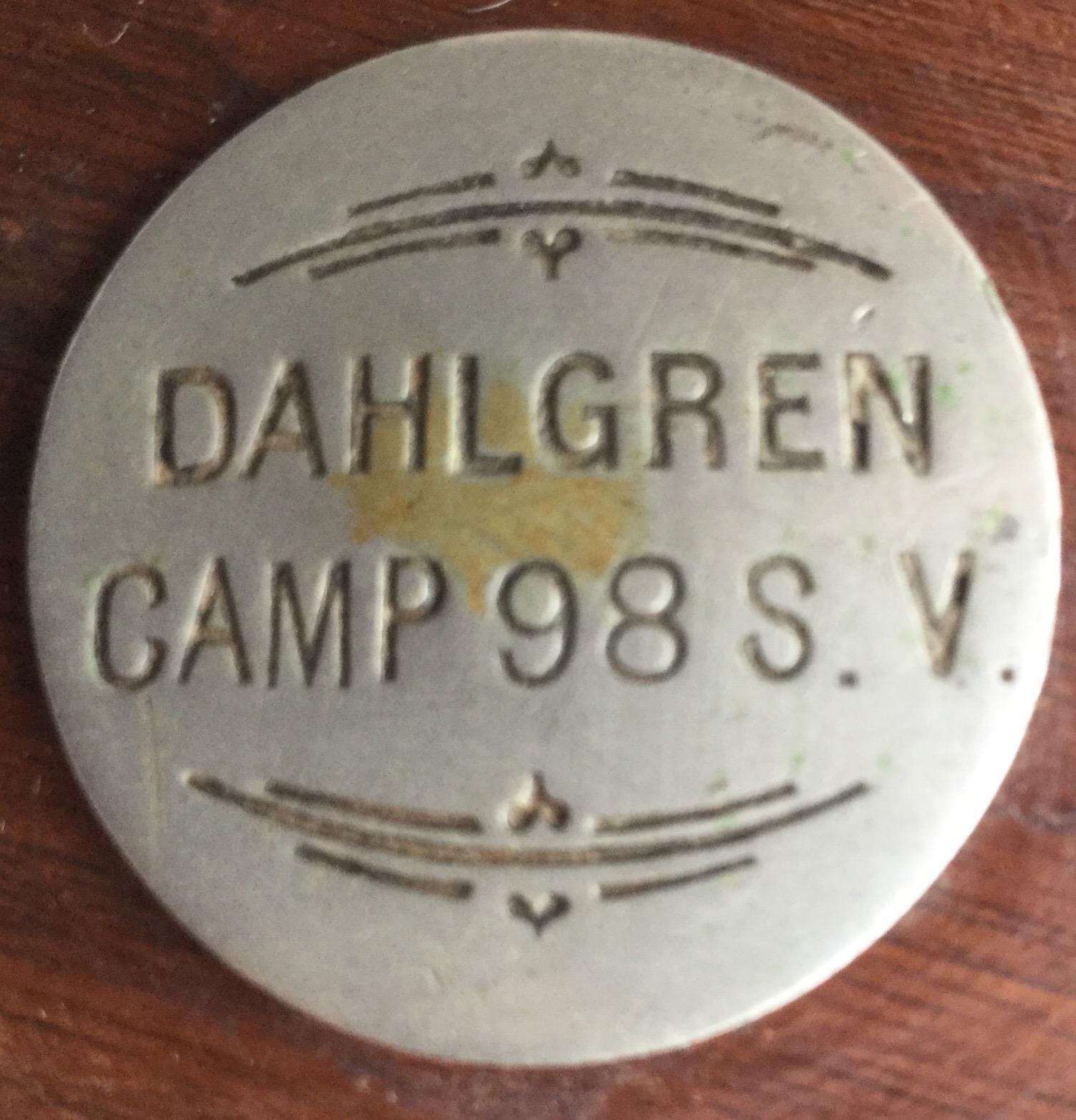 Dahlgren Camp 98 Sons of Veterans Medallion
