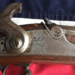1863 Springfield Rifle Musket Lock Plate, Cocked Hammer