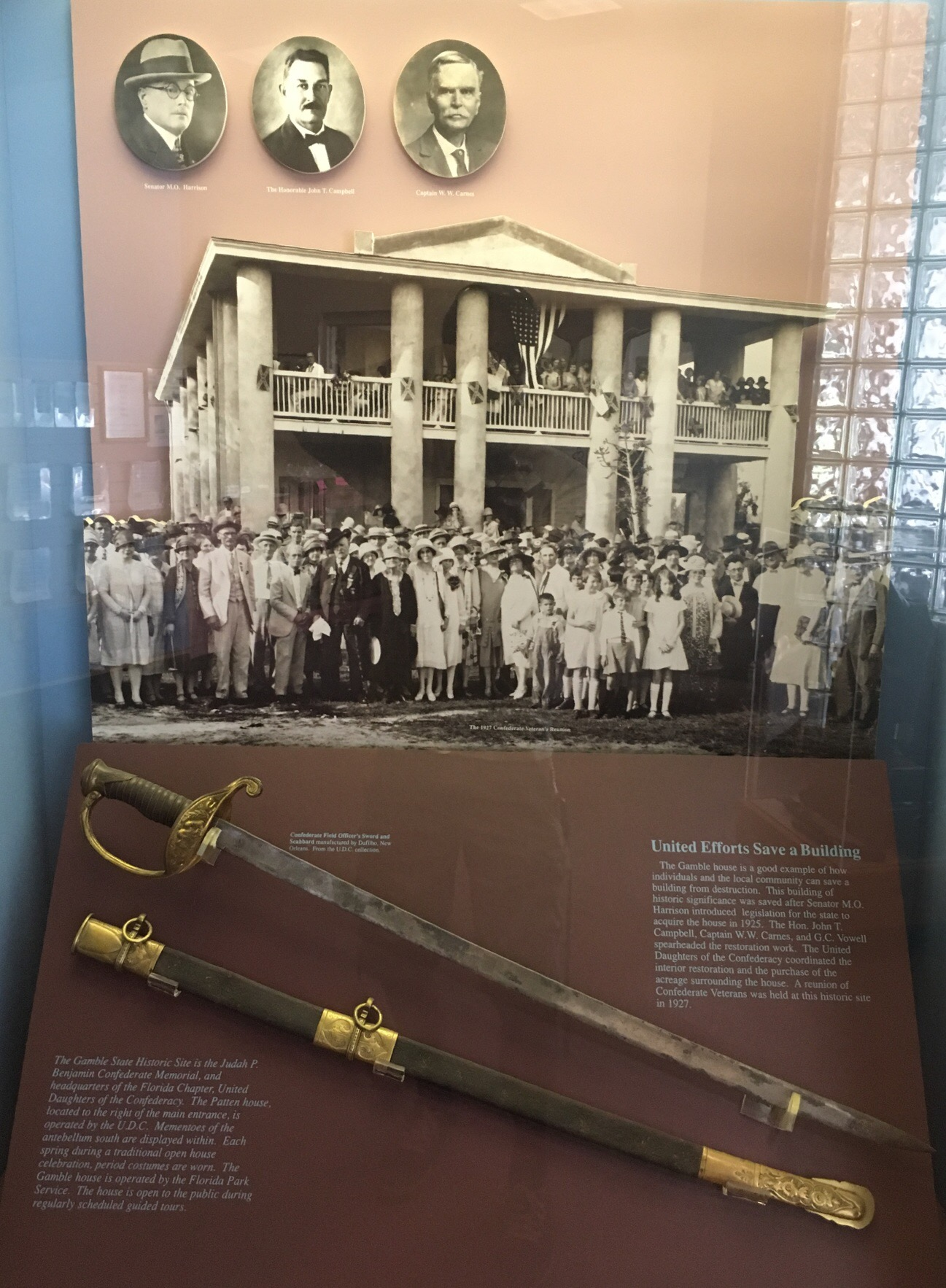 1927 Confederate Veterans Reunion & Dufilho Sword and Scabbard