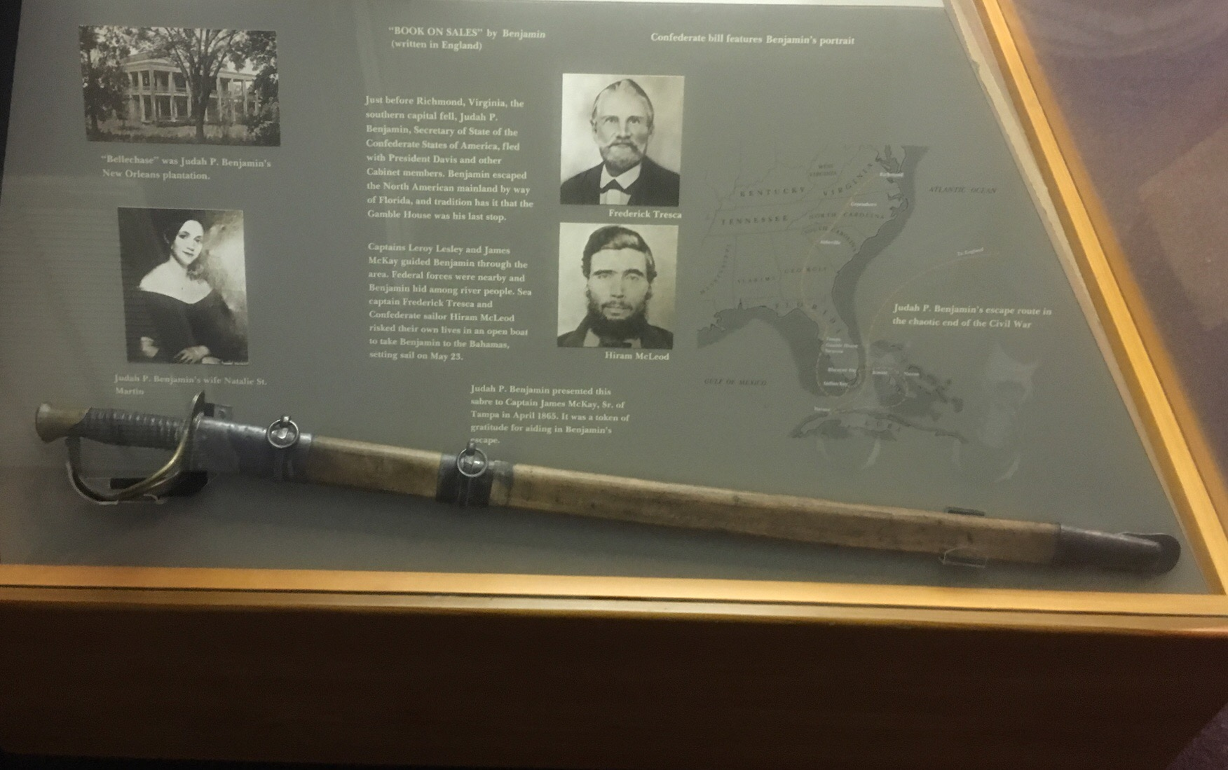 Captain James McKay Sr. Presentation Sword & Wood Scabbard