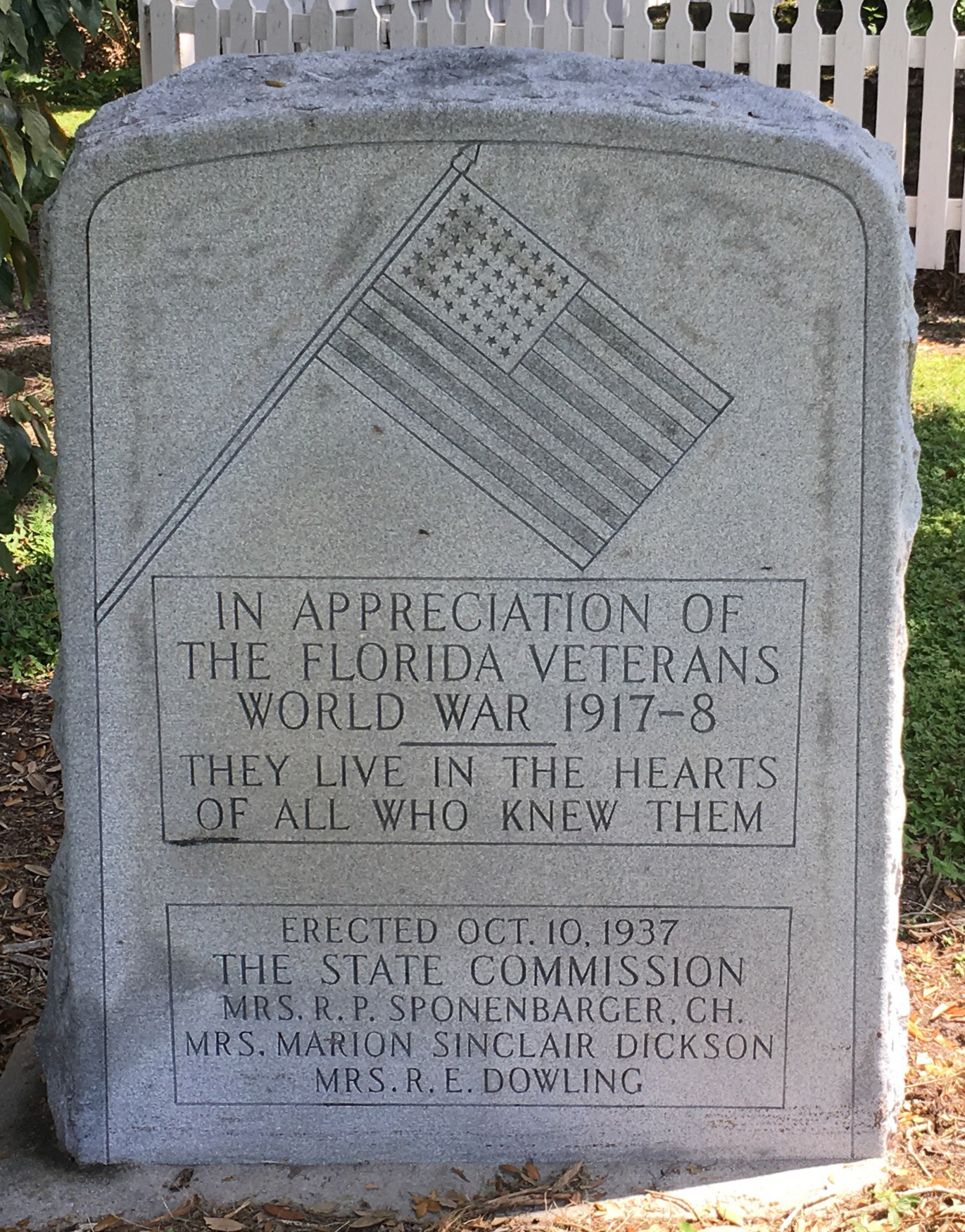 World War 1, Stone Monument