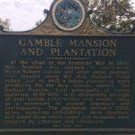 Gamble Mansion & Plantation Plaquard, Side 1