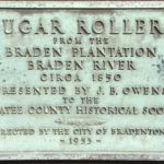 Sugar Rollers, Circa 1850 Plaque