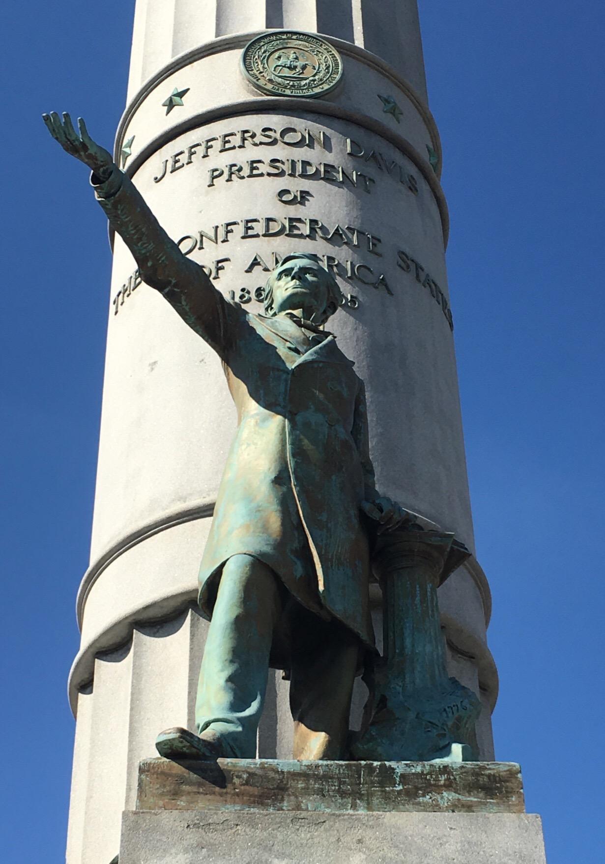 Jefferson Davis Bronze Statue, President Of The Confederate States Of America