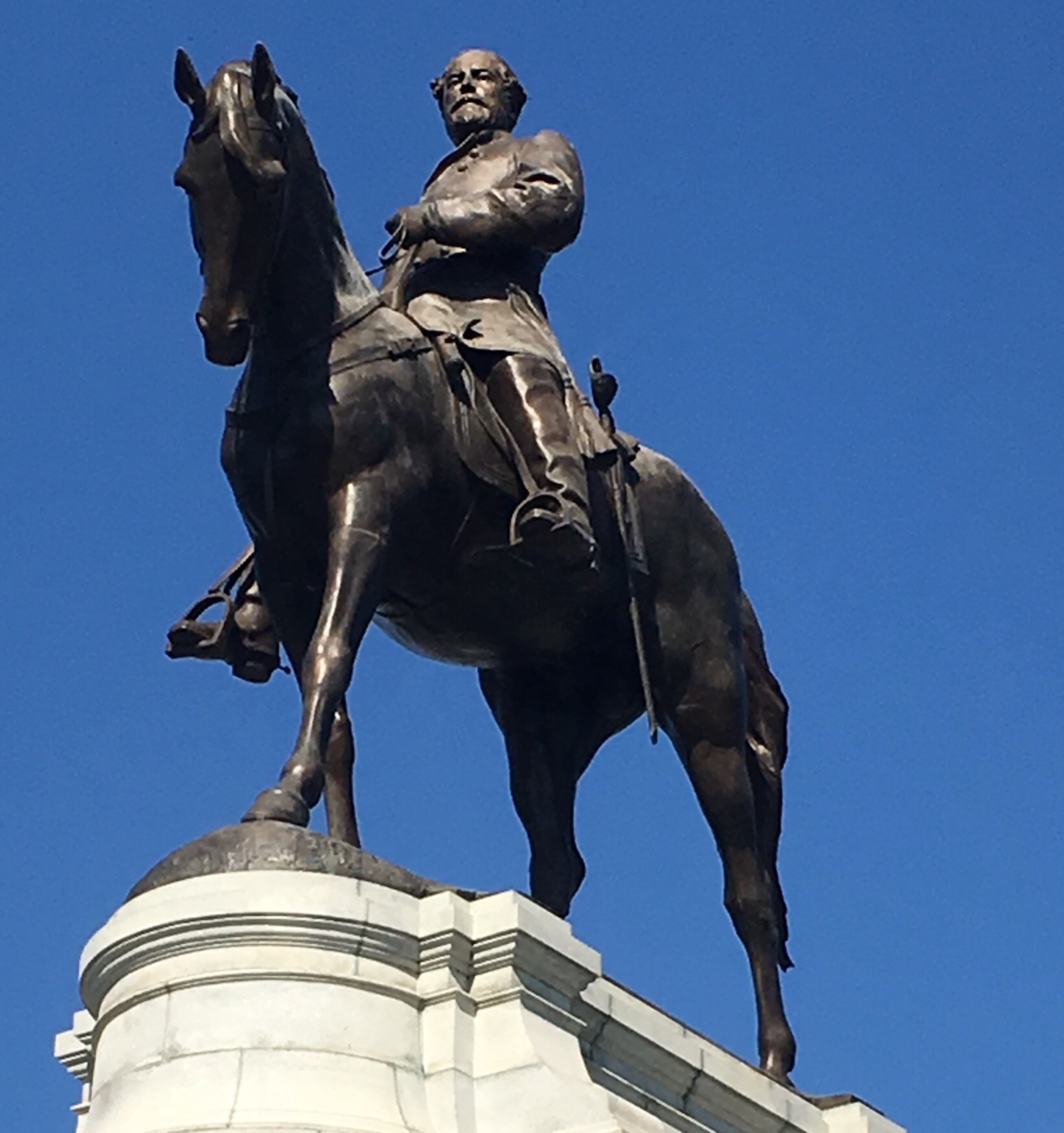 Robert E. Lee Bronze Monument, Richmond Virginia