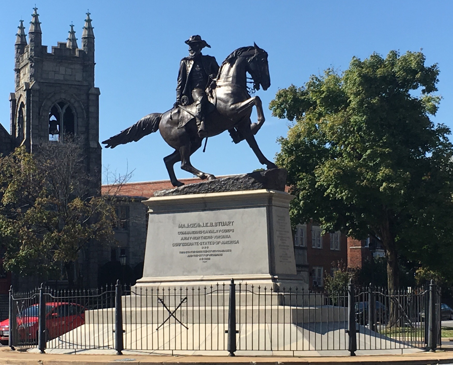 "James Ewell Brown ""Jeb"" Stuart Monument, Richmond Virginia"