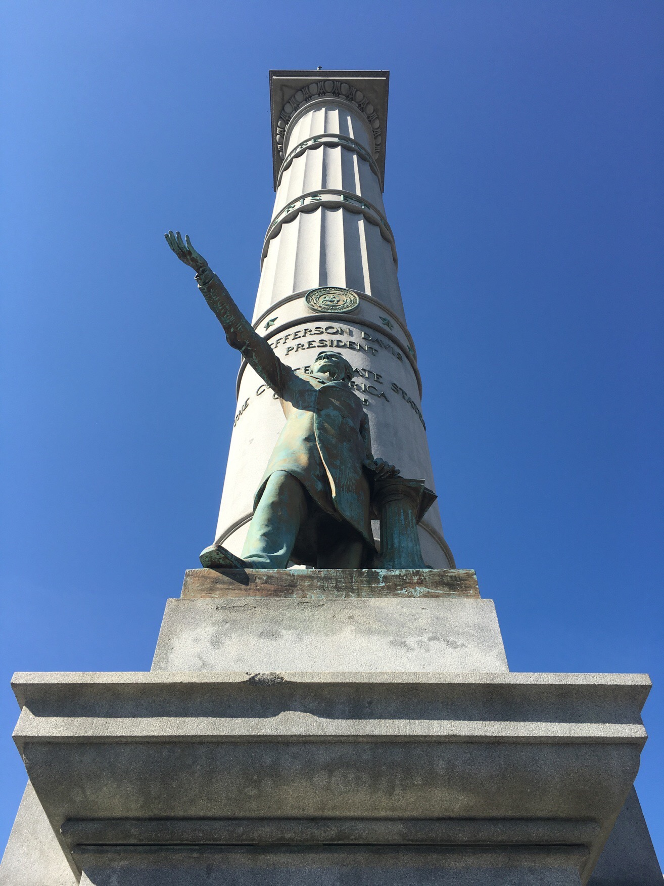 President Jefferson Davis, Monument Avenue, Richmond Virginia