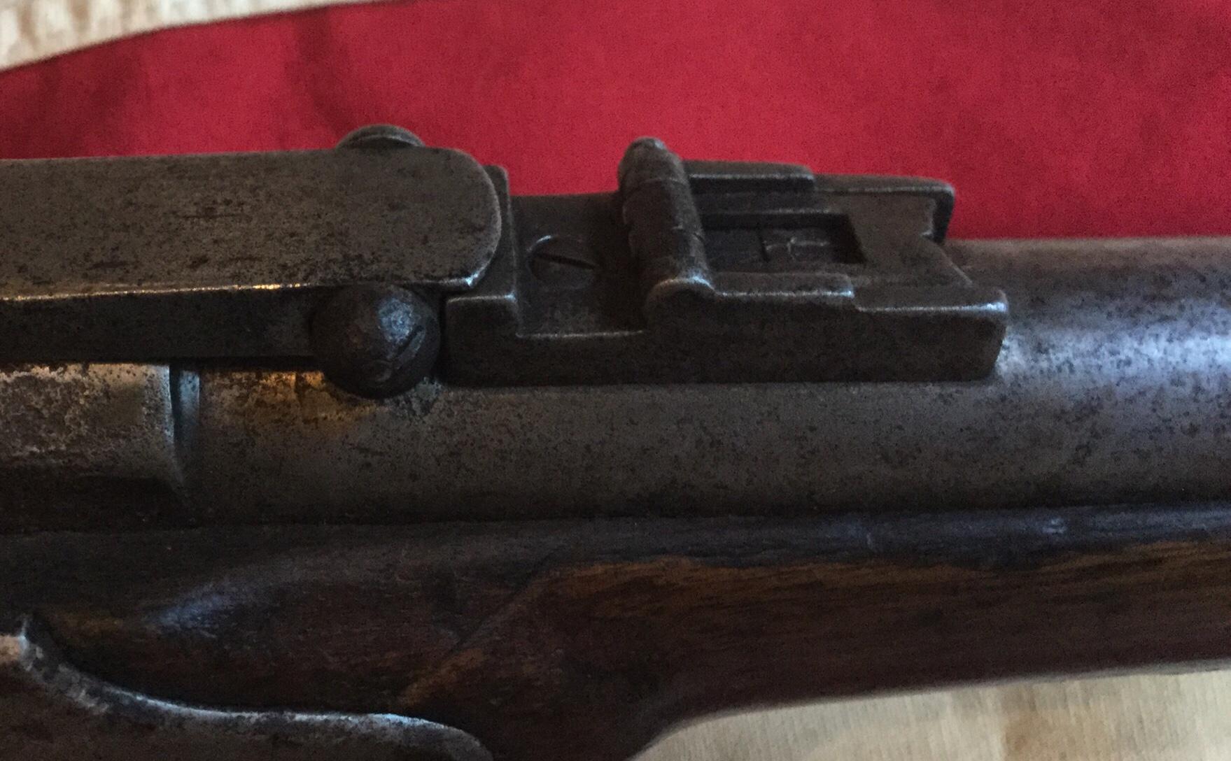 Merrill Carbine, Button Type Latch