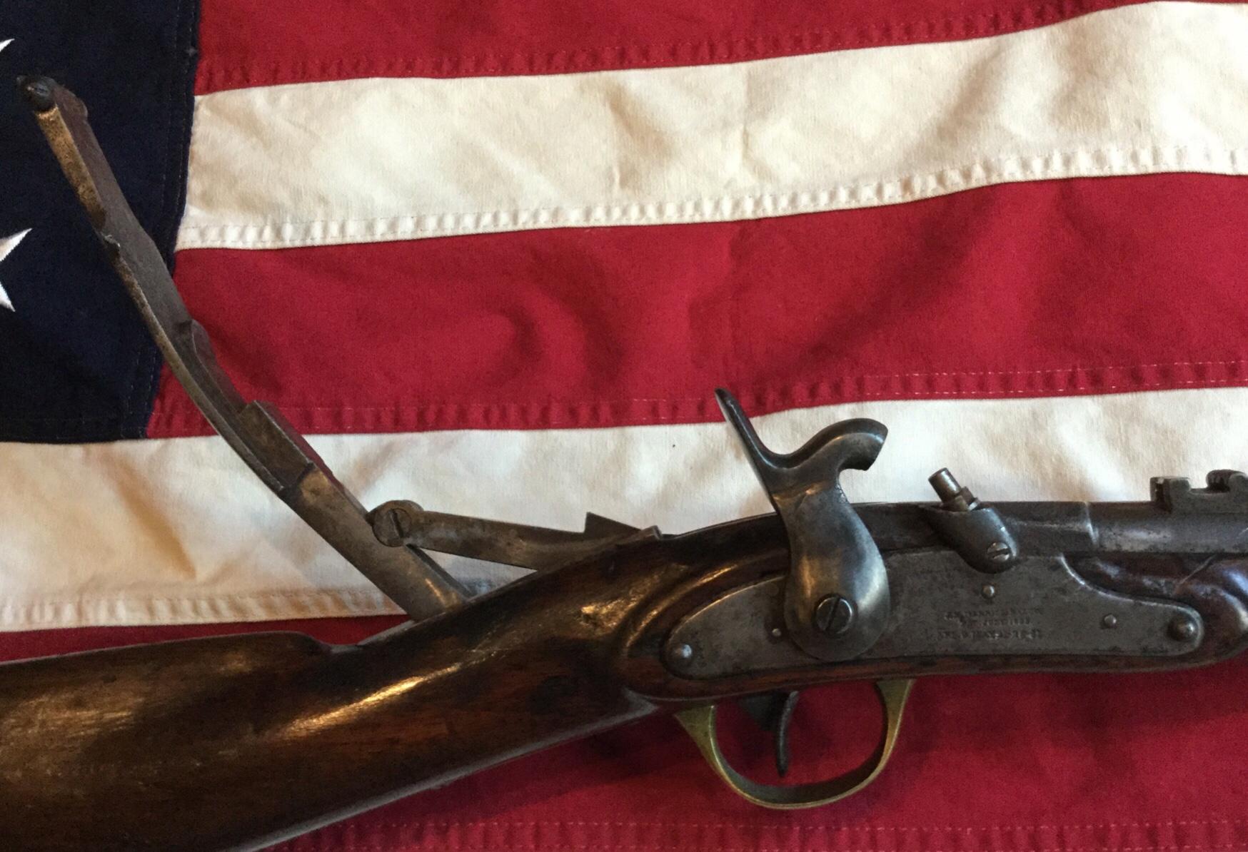 Merrill Carbine, Breech Lever Open Position