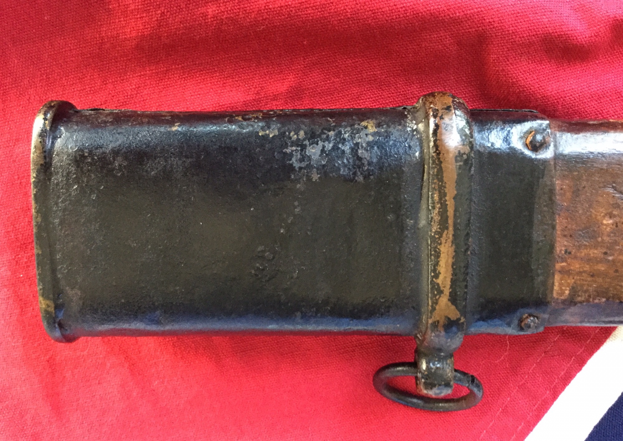 Wooden Scabbard Made By Lewis L. & T.R. Moore - Throat, Mount & Ring