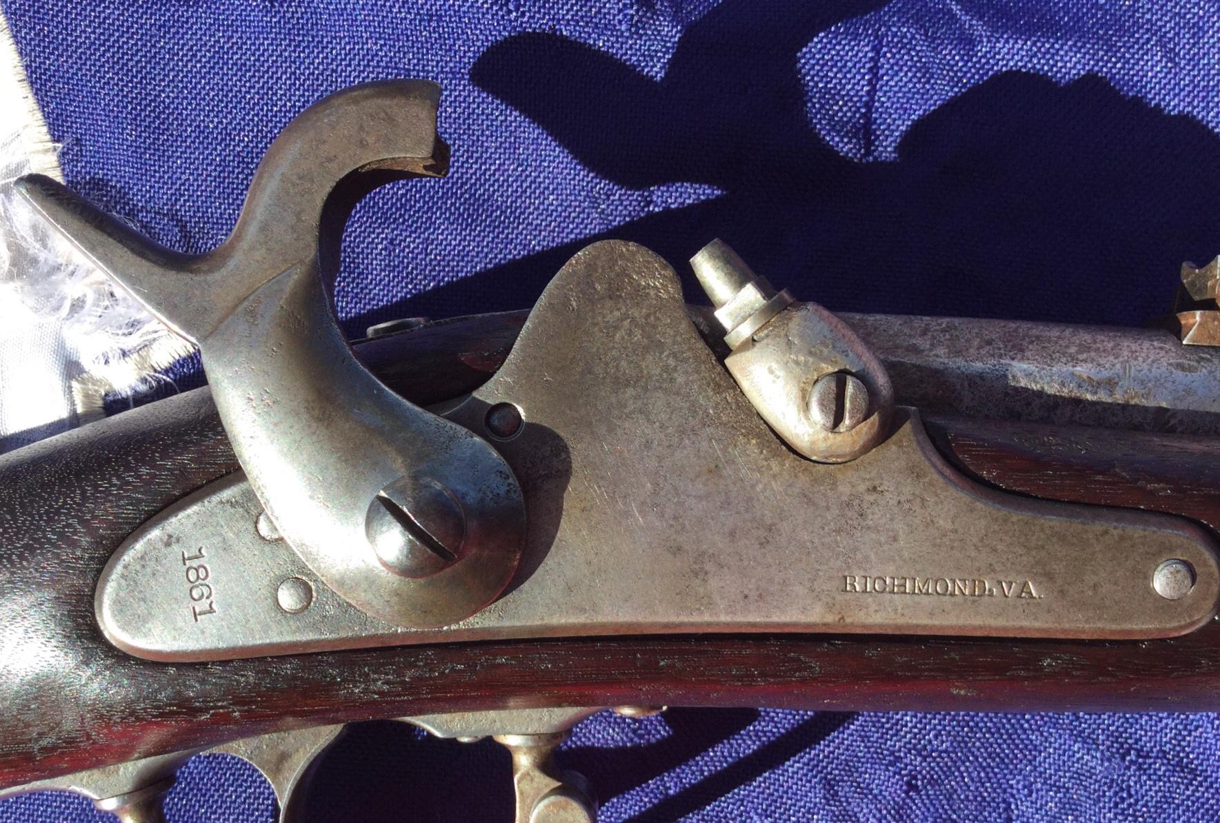 1861 Richmond Lock Plate, Full Cocked