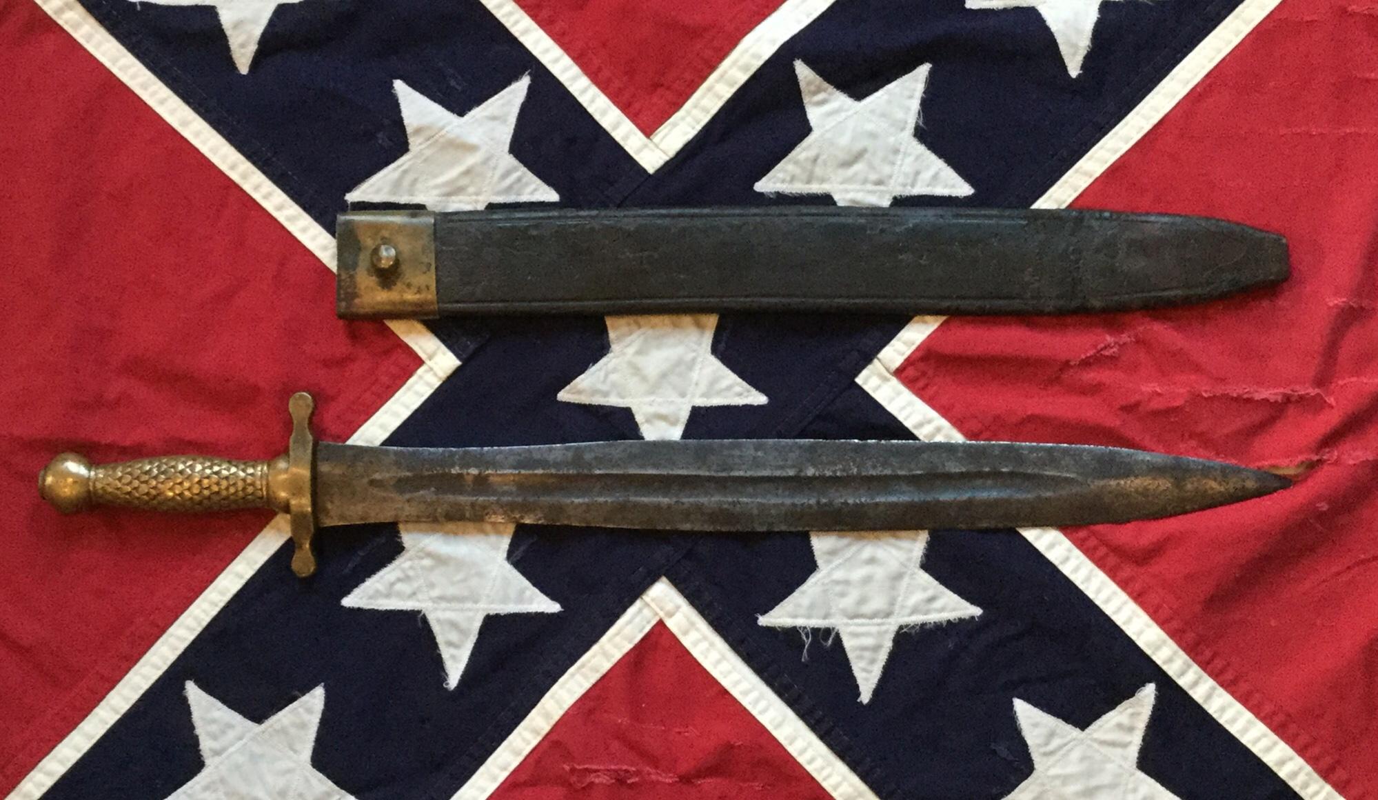 Confederate Artillery Short Sword & Scabbard