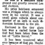 Little Sorrel Stickpin, Beckley Post Herald, W. Virginia