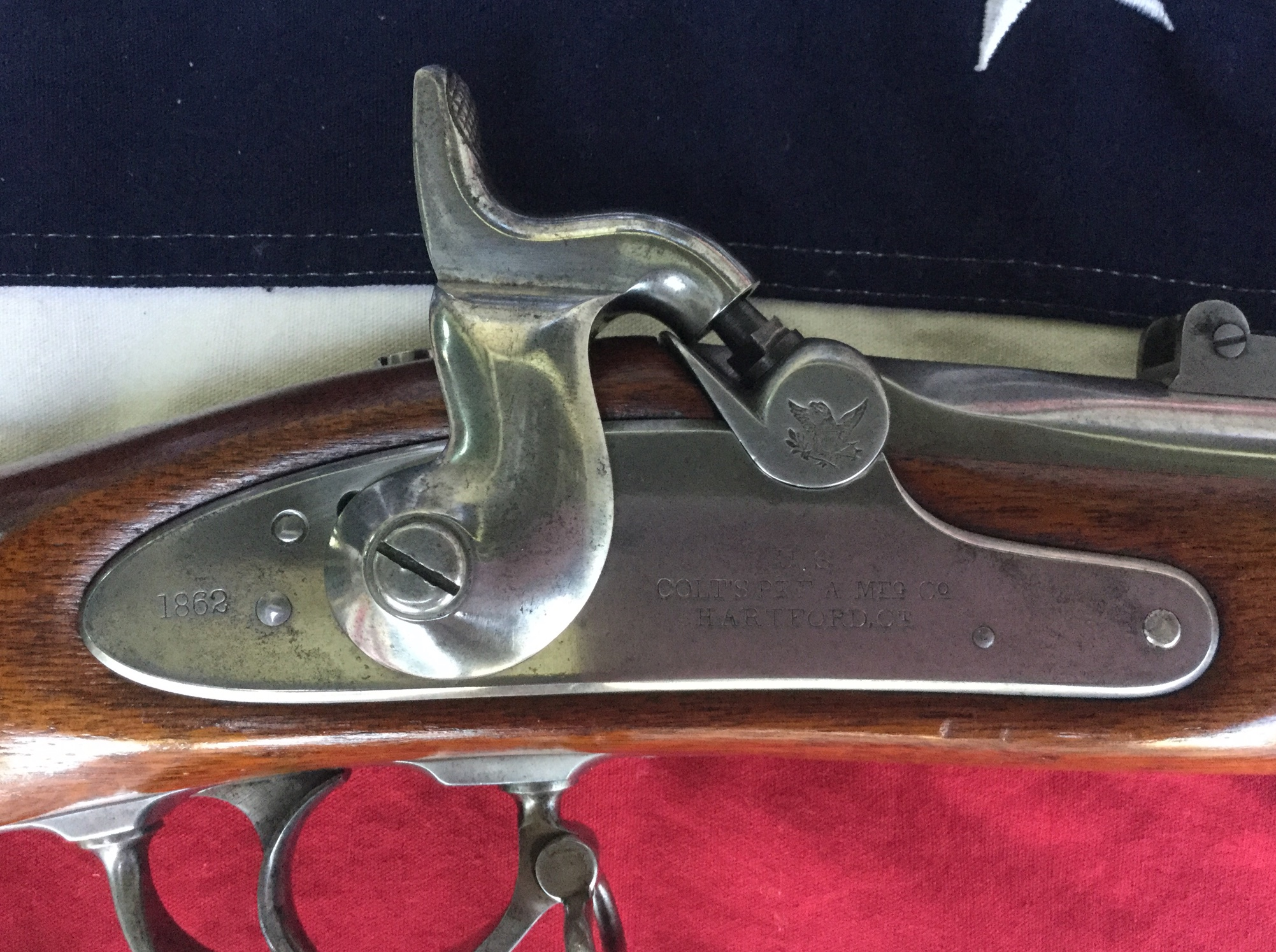 Colt Rifle Musket Lock Plate