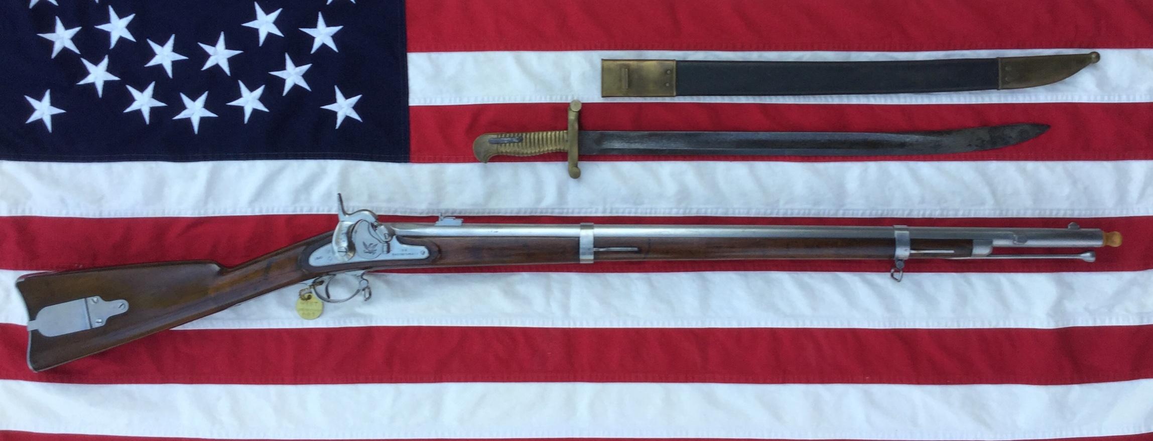 1860 Harper's Ferry Rifle & Saber Bayonet
