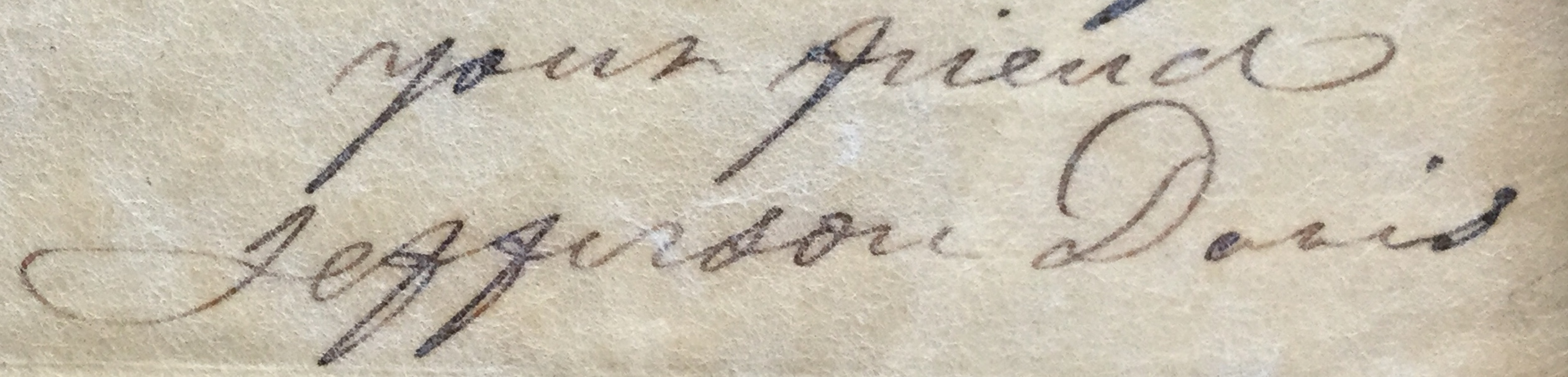 Jefferson Davis Signature
